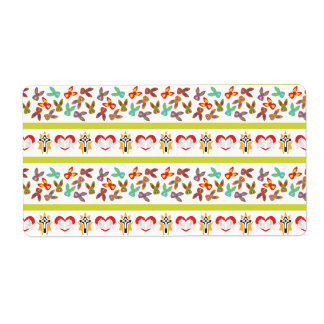 Psycho Easter Pattern colorful Shipping Label