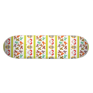 Psycho Easter Pattern colorful Skateboard