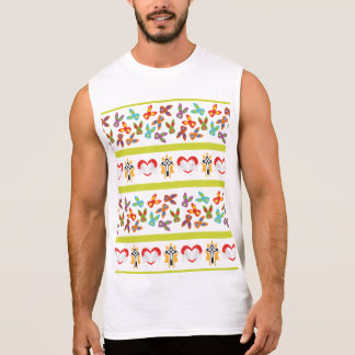 Psycho Easter Pattern colorful Sleeveless Shirt