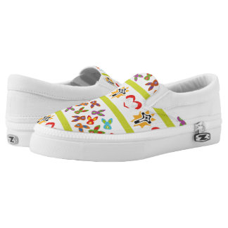 Psycho Easter Pattern colorful Slip-On Shoes