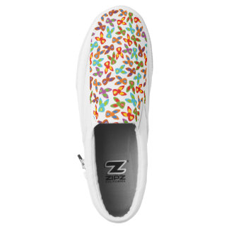 Psycho Easter Pattern colorful Slip On Shoes