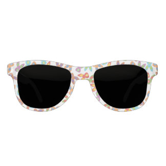 Psycho Easter Pattern colorful Sunglasses