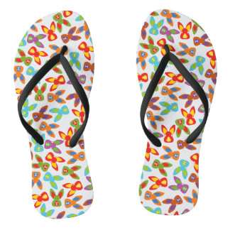 Psycho Easter Pattern colorful Thongs