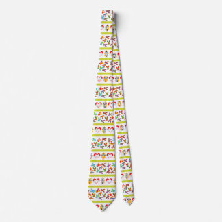 Psycho Easter Pattern colorful Tie