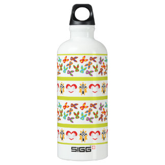 Psycho Easter Pattern colorful Water Bottle