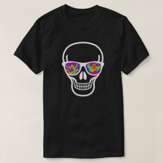 Psycho-eyed Geek Skull T-Shirt