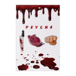 PSYCHO I LOVE YOU acrylic wall art