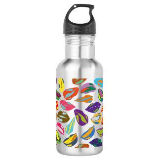 Psycho retro colorful pattern Lips 532 Ml Water Bottle