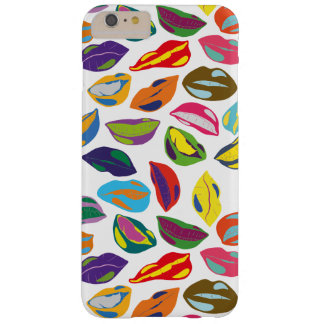 Psycho retro colorful pattern Lips Barely There iPhone 6 Plus Case
