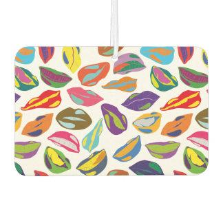 Psycho retro colorful pattern Lips Car Air Freshener