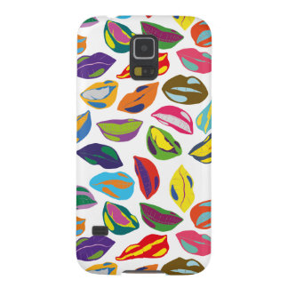 Psycho retro colorful pattern Lips Galaxy S5 Cover