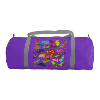 Psycho retro colorful pattern Lips Gym Bag