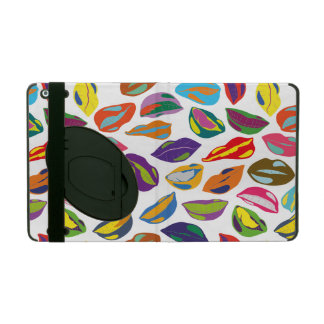 Psycho retro colorful pattern Lips iPad Case