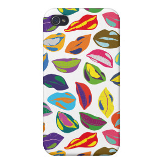 Psycho retro colorful pattern Lips iPhone 4 Case