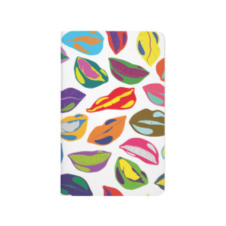 Psycho retro colorful pattern Lips Journal