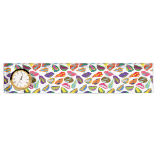 Psycho retro colorful pattern Lips Name Plate