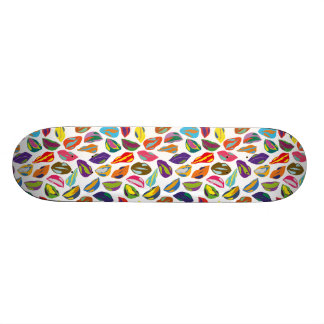 Psycho retro colorful pattern Lips Skateboard Deck