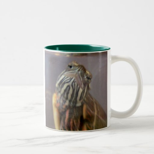Psycho the Red Eared Slider Turtle Mugs