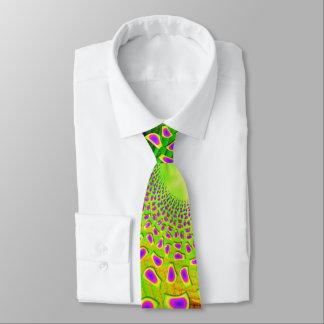 PsychoBerries 3d Glass Fractal Tie