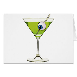 Psychobilly Martini Card