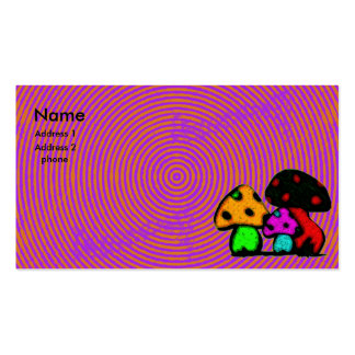 psychodelic mushroom card Double-Sided standard business cards (Pack of 100)