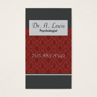 Psychologist and Medical Business Card - Monogram