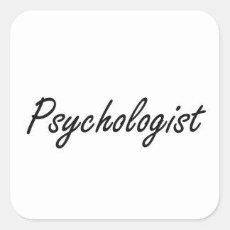 Psychologist Artistic Job Design Square Sticker