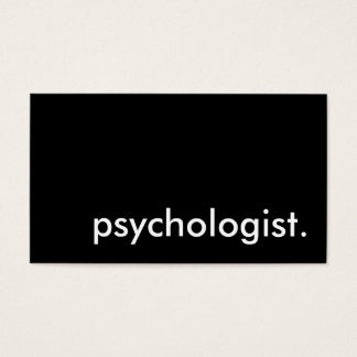 psychologist. business card