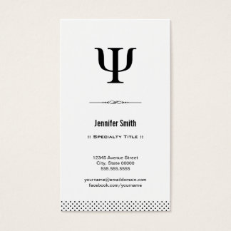 Psychologist - Clean and Elegant Black and White Business Card