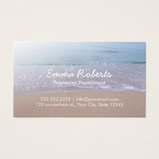 Psychologist-Elegant Beach Theme Appointment Business Card