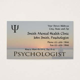 Psychologist Mental Health Business Card