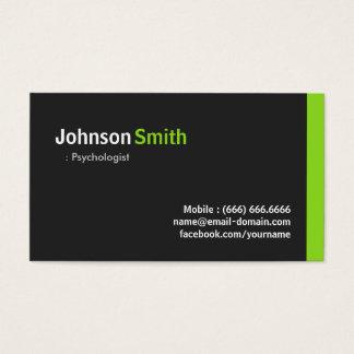 Psychologist - Modern Minimalist Green Business Card