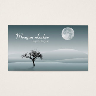 Psychologist - Moon and Solitude Tree Business Card