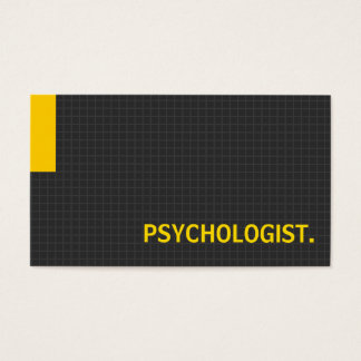 Psychologist- Multiple Purpose Yellow Business Card