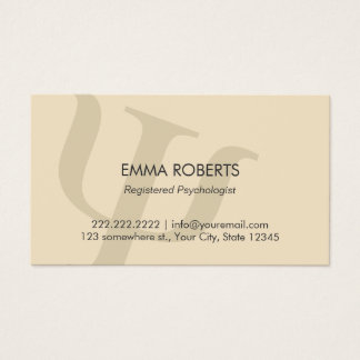 Psychologist Plain Professional Appointment Business Card