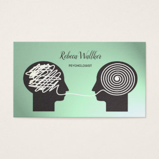 Psychologist, Psychiatrist, Doctor, Private Clinic Business Card