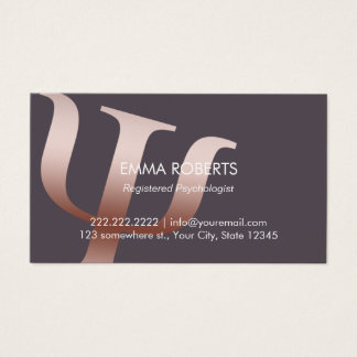 Psychologist Rose Gold Symbol Appointment Business Card