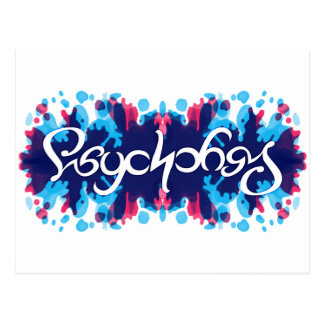 Psychology ambigram postcard