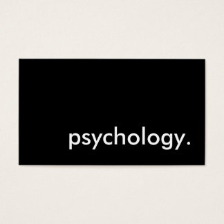 psychology. business card