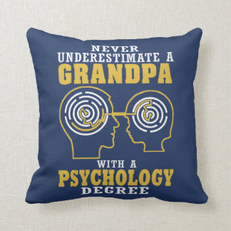 Psychology Grandpa Cushion