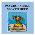 psychology psychiatry joke poster