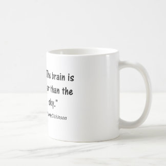 "Psychology Quotes:  ""The Brain is Wider Than.."" Coffee Mug"