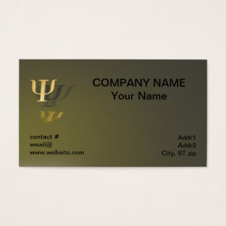 Psychology symbol on gold background business card