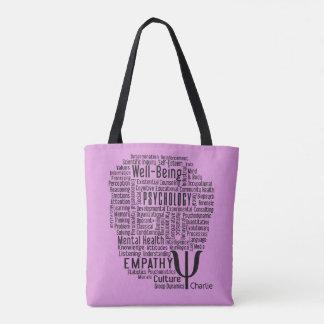 PSYCHOLOGY Word Cloud custom name bags Tote Bag