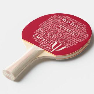 PSYCHOLOGY Word Cloud custom ping pong paddle