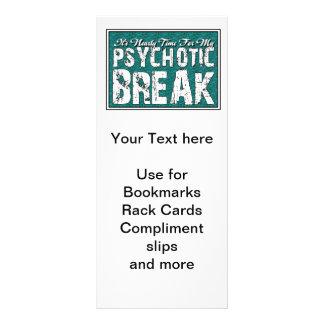 Psychotic and Mental Health Humor Rack Card Design