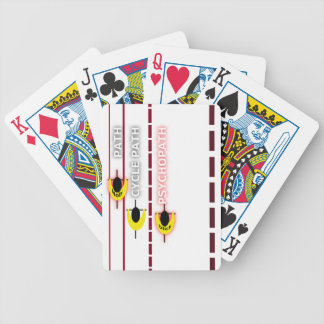 psycle path bicycle playing cards