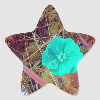 Psycodelia Flowers Unique Trendy Modern Star Sticker