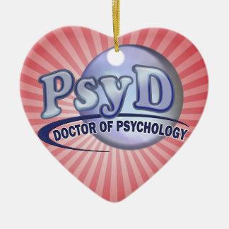 PsyD Doctor of Psychology LOGO Ceramic Ornament