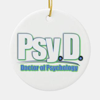 PsyD LOGO2 DOCTOR OF PSYCHOLOGY Ceramic Ornament
